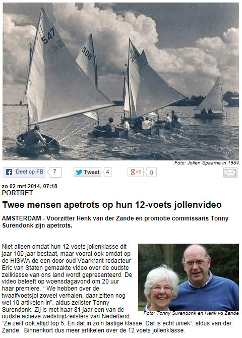 article from Telegraaf