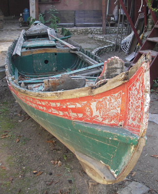 One of the many traditional boats at Harun's Paradise