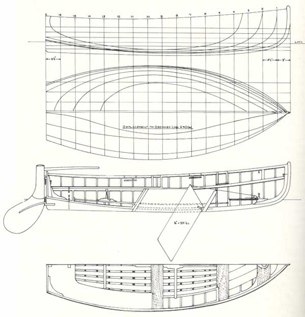 Dinghy 12 - Lines Drawing